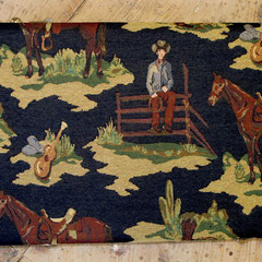 Cowboy close-up (upholstery fabric/available in Standard size)