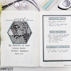 Bullet Journal Cover Title Woche