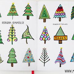 Doodles - Einfach malen und zeichnen Bullet Journal und Sketchnotes Weihnachtsbaum Christmastree