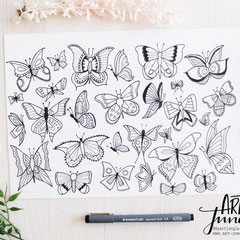 Doodle Butterfly - Schmetterling einfach malen zeichnen - Easy Drawing