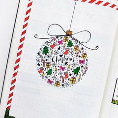 Doodles - Einfach malen und zeichnen Bullet Journal und Sketchnotes Christmas Kugel