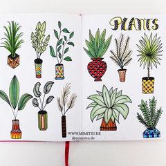 Doodles - Einfach malen und zeichnen Bullet Journal und Sketchnotes Pflanzen Plants