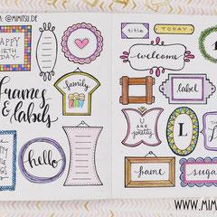Doodles - Einfach malen und zeichnen Bullet Journal und Sketchnotes Frames Rahmen 8
