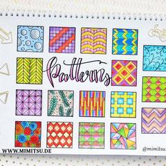 Doodles - Einfach malen und zeichnen Bullet Journal und Sketchnotes Patterns Muster