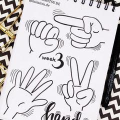 Doodles - Einfach malen und zeichnen Bullet Journal und Sketchnotes Hands Hände