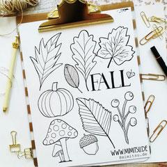Doodles - Einfach malen und zeichnen Bullet Journal und Sketchnotes Fall Herbst 1