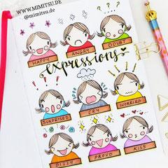 Doodles - Einfach malen und zeichnen Bullet Journal und Sketchnotes Expressions Gesichtsausdruck