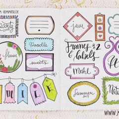 Doodles - Einfach malen und zeichnen Bullet Journal und Sketchnotes Frames Rahmen 7