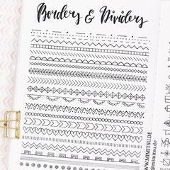 Doodles - Einfach malen und zeichnen Bullet Journal und Sketchnotes Dividers und Boarders 4