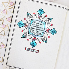 Bullet Journal Cover Title Dezember Woche