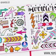 Doodles - Einfach malen und zeichnen Bullet Journal und Sketchnotes Pfeile Arrows