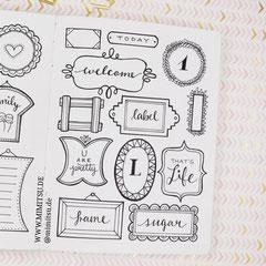 Doodles - Einfach malen und zeichnen Bullet Journal und Sketchnotes Frames Rahmen 5