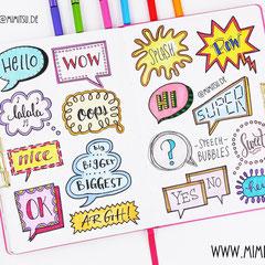 Doodles - Einfach malen und zeichnen Bullet Journal und Sketchnotes Speech Bubbles Sprechblasen