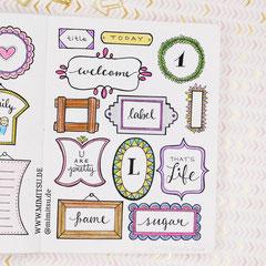 Doodles - Einfach malen und zeichnen Bullet Journal und Sketchnotes Frames Rahmen 3