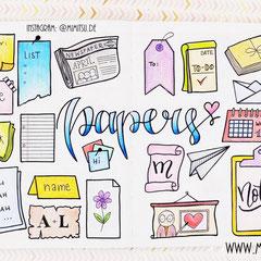 Doodles - Einfach malen und zeichnen Bullet Journal und Sketchnotes Papers Papier