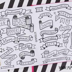 Doodles - Einfach malen und zeichnen Bullet Journal und Sketchnotes Banners