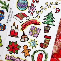 Doodles - Einfach malen und zeichnen Bullet Journal und Sketchnotes Christmas Weihachten Winter