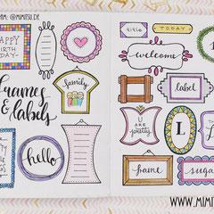 Doodles - Einfach malen und zeichnen Bullet Journal und Sketchnotes Frames Rahmen 1