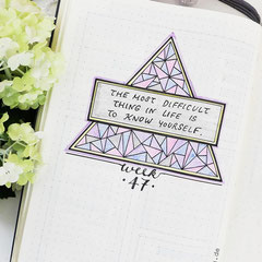 Bullet Journal Cover Title Woche Zitat