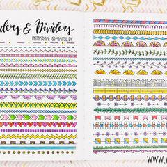 Doodles - Einfach malen und zeichnen Bullet Journal und Sketchnotes Dividers und Boarders 1