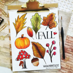 Doodles - Einfach malen und zeichnen Bullet Journal und Sketchnotes Fall Herbst 2
