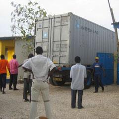 Eintreffen eines Containers