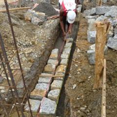 les fondations en pierres de taille