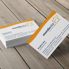 Mondovita: Logoentwicklung, Prospekt, Flyer, Geschäftsausstattung, Displays usw.