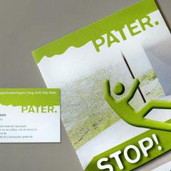 Pater: Logoentwicklung, Flyer, Messestand
