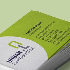 Urban Lampenschirme: Logoentwicklung, Webseite