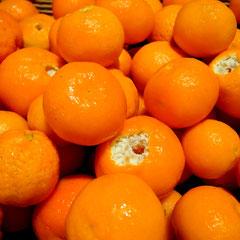 Mandarinensaft pressen