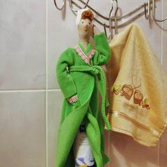 """кукла тильда """"Хранительница ватных дисков"""""""