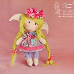 Кукла эльф. Круглоголовая кукла Маслик Ольги