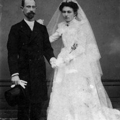Anne Louise JEAN et François CREHALET lors de leur mariage à Tréguier.