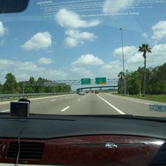 8-spuriger Straßen in Florida