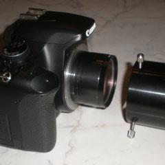 Canon 450 D modificata Baader con raccordo da due pollici della Ditta Coma