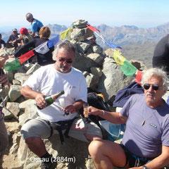 Champagne au sommet du Pic du Midi d'Ossau (2884m)