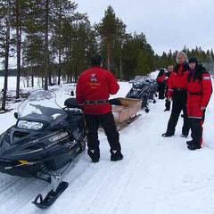 Safari en moto neige