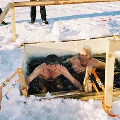 Artic sauna en Laponie (il fait -25° dehors)