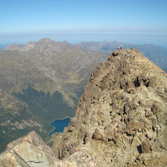 Le pic du Midi d'Ossau vue de la pointe d'Espagne