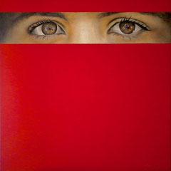 Malala Yousafzai (Prix Nobel de la Paix) Acrylique et mine graphite sur toile (110x110cm)