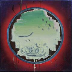 o.T.(mirror), Öl auf Leinwand, 40x40cm, 2013