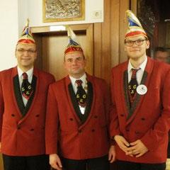 LKC-Präsidenten Norman Greve (mittig), Rechnungsführer Jan Bartels (rechts) und Schriftführer Stephan Schamuhn (links)