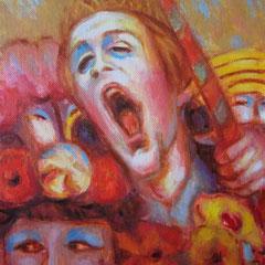 Cri au carnaval - Huile sur toile