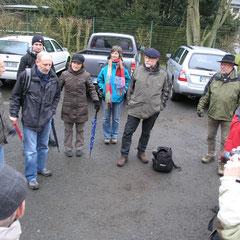Begrüßung durch den Vereinsvorsitzenden Robert Scheibel und Einweisung in die Route durch Matthias Möbs (Parkplatz Kläranlage Usingen)