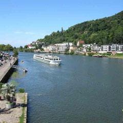 Heidelberg, Blick von der Alten Brücke zum Neckar - © Traudi