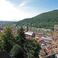 Heidelberg, Blick zur Stadt - © Traudi