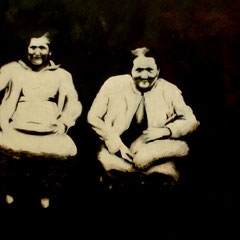 Freundinnen,  Acryl auf Papier,  80 x 100 cm