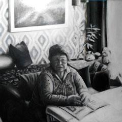 Zivildienst II,  Acryl auf Leinwand, 90 x 130 cm