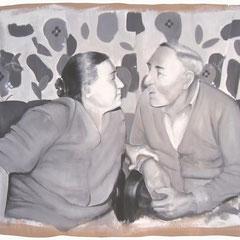 Grünkern,  Acryl auf Papier,  80 x 120 cm